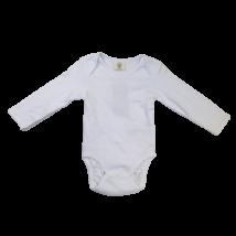 80-as fehér hosszú ujjú body - Organic Cotton - Biopamut - ÚJ
