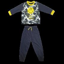 98-104-es szürke Smiley-s pizsama fiúnak - ÚJ