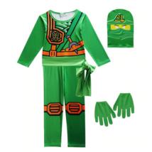 128-as zöld Ninjago jelmez, 3 részes - ÚJ