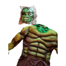 Izmosított Hulk jelmez maszkkal, 10-12 év - ÚJ