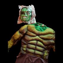 Izmosított Hulk jelmez maszkkal, 7-9 év - ÚJ