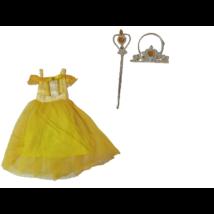 5-6 évesre (M) sárga Belle jelmez kiegészítőkkel - A Szépség és a szörnyeteg - ÚJ