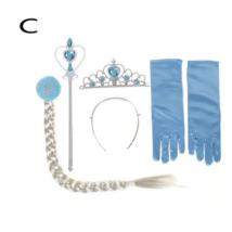 4 db-os kék Elza jelmez kiegészítő szett - Jégvarázs, Frozen - ÚJ