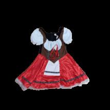 Női piros-fehér hímzett Bajor vagy Tiroli jelmez ruha
