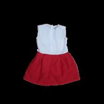 4-6 évesre piros-fehér lány jelmez ruha