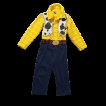 4-5 évesre sárga-kék kezeslábas jelmez - Woody - Toy Story