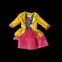 5-6 évesre sárga-rózsaszín órás jelmez - Alice csodaországban