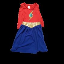 6-8 évesre piros-kék hős lány jelmezruha, palásttal