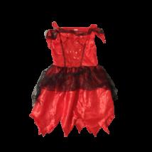 7-8 évesre piros-fekete ördöglány jelmezruha