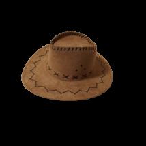 Felnőtt fejre barna sheriff,cowboy kalap - ÚJ