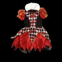 5-7 évesre piros-fekete szívkirálynő (halloween) jelmez - Alice Csodaországban