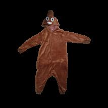 S-es méretű barna plüss kaki jelmez