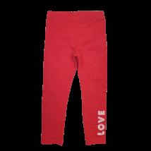 98-104-es piros feliratos leggings - Lupilu