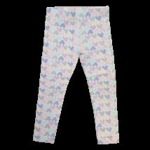 104-es fehér szivecséks leggings - Little Kids