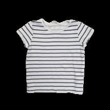 110-es fehér alapon fekete csíkos póló - H&M