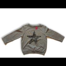 134-140-es szürke csillagos pulóver
