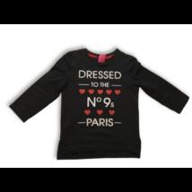 140-146-os fekete feliratos pulóver - George
