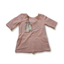 140-es rózsaszín balettcipős pamutfelső - Zara