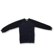 140-es kék kötött pulóver - F&F