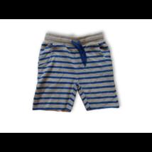 110-es kék-szürke csíkos pamut short - Kiki & Koko - ÚJ