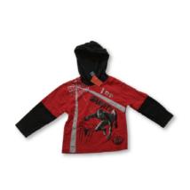 92-98-as piros-fekete pamutfelső - Pókember, Spiderman