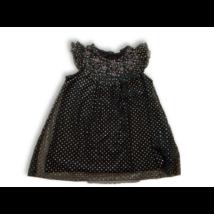 98-as fekete csillagos tüllös alkalmi ruha - Kiki & Koko - ÚJ