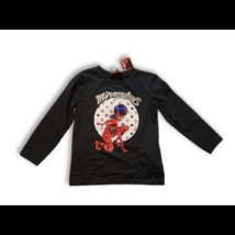 98-as szürke pamutfelső - Miraculous Ladybug - ÚJ