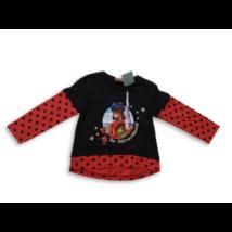 98-as fekete-piros pamutfelső - Miraculous Ladybug - ÚJ