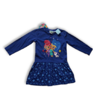 92-es kék csillagos ruha - Shimmer Shine - ÚJ