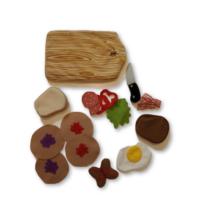 Textil ételek, vágódeszkával 11 részes