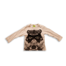 98-104-es fehér tigrises pamutfelső - H&M