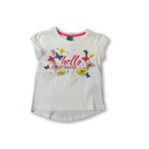 92-es fehér pillangós póló - Kiki & Koko - ÚJ