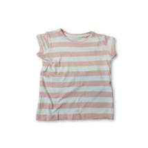 92-es rózsaszín-fehér csíkos póló - Kiki & Koko - ÚJ