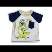 74-es fehér-kék állatos póló - Ergee - ÚJ
