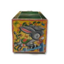 Állatos kockakirakó zöld dobozban