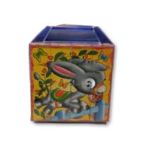 Állatos kockakirakó kék dobozban