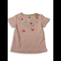 92-es rózsaszín virágos póló - Kiki & Koko - ÚJ