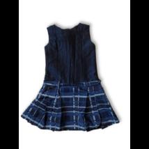 128-as kék kockás selyem alkalmi ruha - Asti