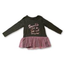 92-es khaki-rózsaszín tüllös ruha - Kiki & Koko - ÚJ