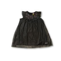 116-os fekete-ezüst csillagos tüllös alkalmi ruha - Kiki & Koko - ÚJ