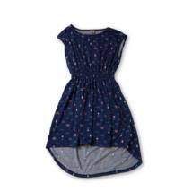 146-152-es kék-rózsaszín mintás ruha - Y.F.K - ÚJ