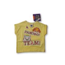 92-es sárga flitteres póló - Paw Patrol - ÚJ