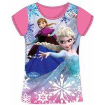104-es pink póló - Frozen, Jégvarázs - ÚJ