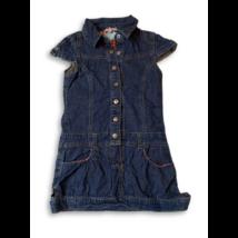 110-es kék galléros farmerruha - Girl2Girl