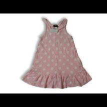 98-104-es rózsaszín-fehér pöttyös ujjatlan pamutruha - H&M