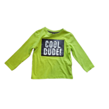 92-es zöld átfordítható flitteres pamutfelső fiúnak - Kiki & Koko - ÚJ