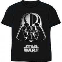140-es fekete póló ezüst mintával - Darth Vader - Star Wars - ÚJ