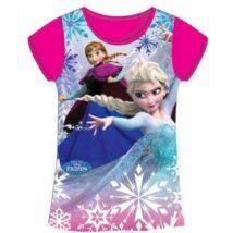 110-es pink lány póló - Frozen, Jégvarázs - ÚJ