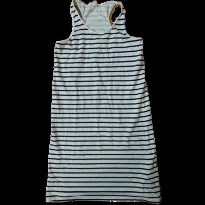 146-os kék-fehér csíkos ujjatlan ruha - H&M