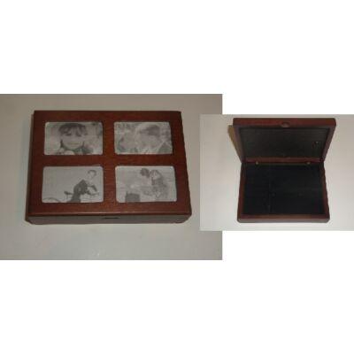Fényképes fa ékszertartó dobozka - ÚJ